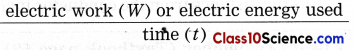 Effects of Electric Current Science Notes 1.1