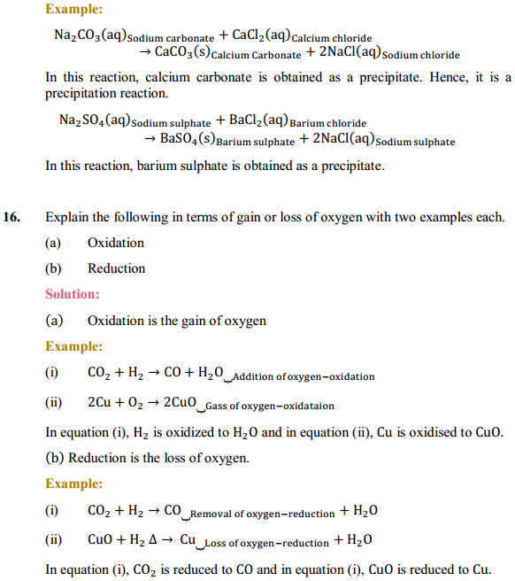 NCERT Solutions for Class 10 Science Chapter 1 Chemical Reactions and Equations 1.13