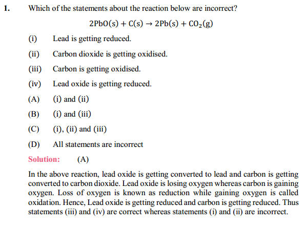 NCERT Solutions for Class 10 Science Chapter 1 Chemical Reactions and Equations 1.22