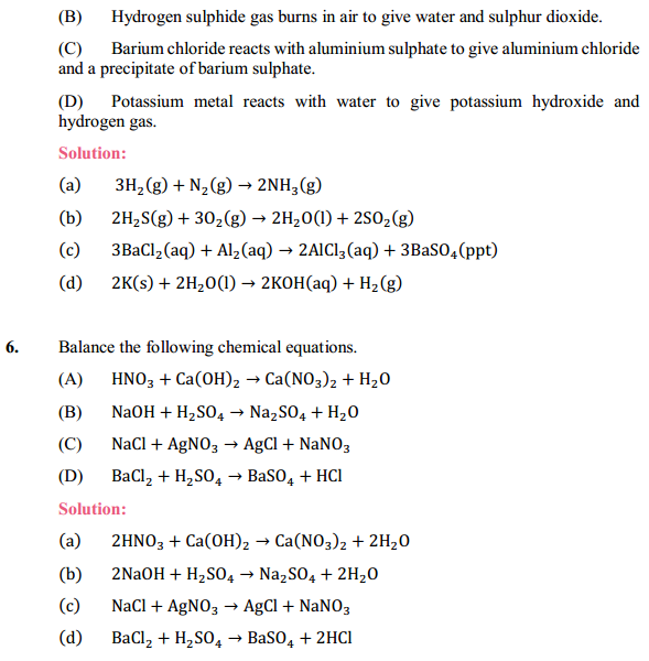 NCERT Solutions for Class 10 Science Chapter 1 Chemical Reactions and Equations 1.5