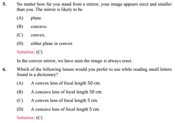 NCERT Solutions for Class 10 Science Chapter 10 Light Reflection and Refraction 12