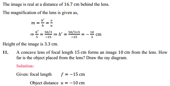 NCERT Solutions for Class 10 Science Chapter 10 Light Reflection and Refraction 16