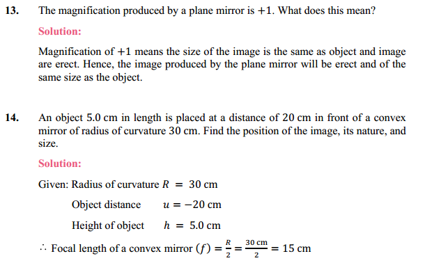 NCERT Solutions for Class 10 Science Chapter 10 Light Reflection and Refraction 20