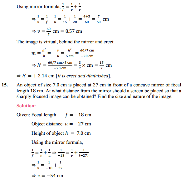 NCERT Solutions for Class 10 Science Chapter 10 Light Reflection and Refraction 21