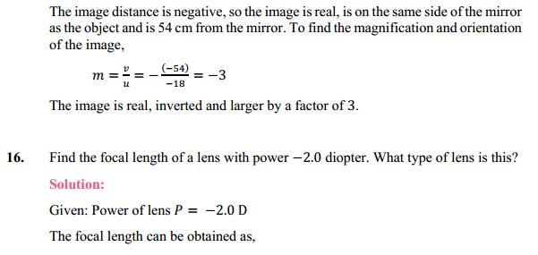 NCERT Solutions for Class 10 Science Chapter 10 Light Reflection and Refraction 22