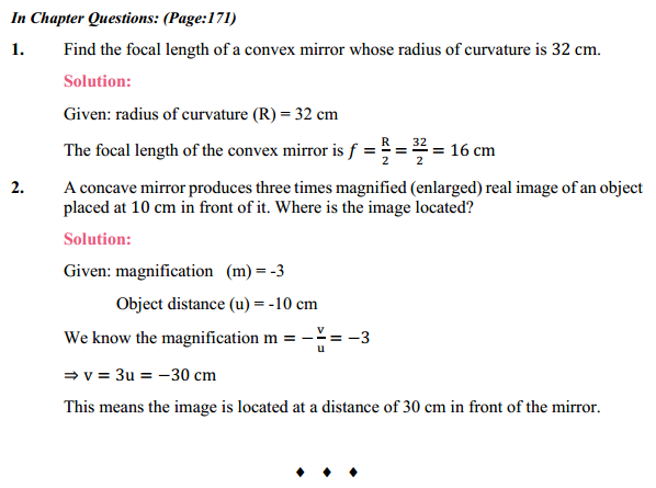 NCERT Solutions for Class 10 Science Chapter 10 Light Reflection and Refraction 3