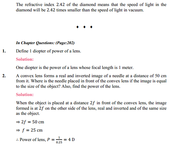 NCERT Solutions for Class 10 Science Chapter 10 Light Reflection and Refraction 7