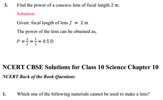 NCERT Solutions for Class 10 Science Chapter 10 Light Reflection and Refraction 8