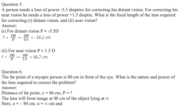 NCERT Solutions for Class 10 Science Chapter 11 The Human Eye and the Colourful World 4
