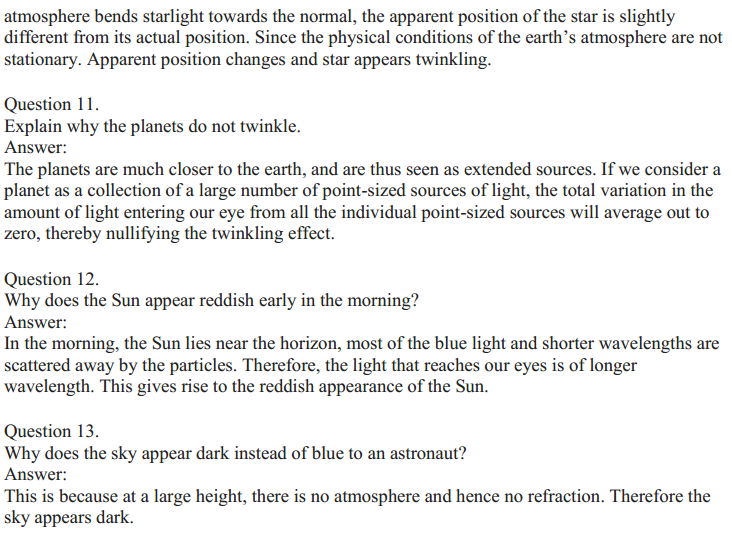 NCERT Solutions for Class 10 Science Chapter 11 The Human Eye and the Colourful World 7