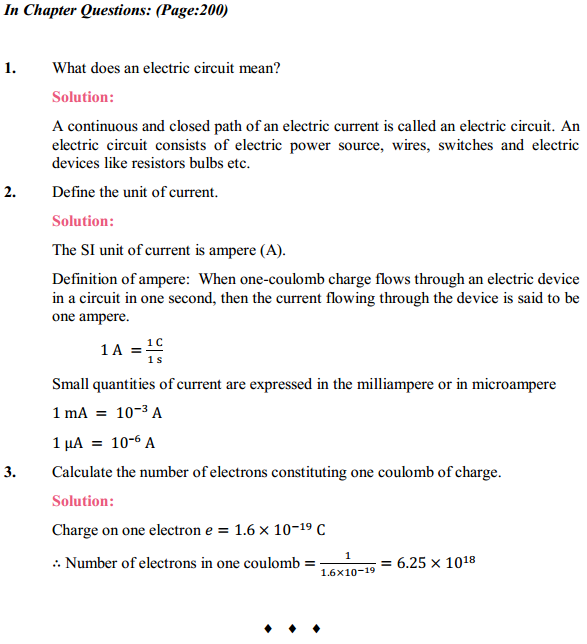NCERT Solutions for Class 10 Science Chapter 12 Electricity 1