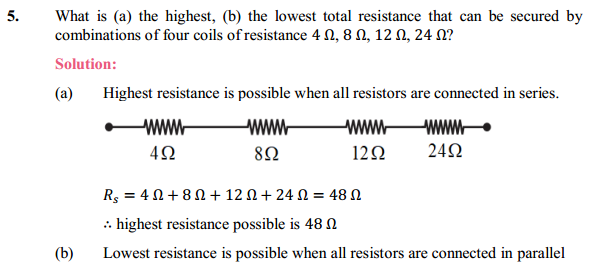NCERT Solutions for Class 10 Science Chapter 12 Electricity 16