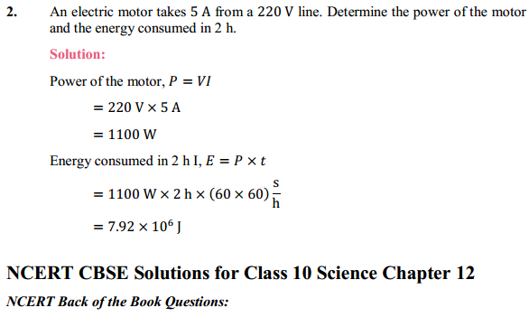 NCERT Solutions for Class 10 Science Chapter 12 Electricity 20