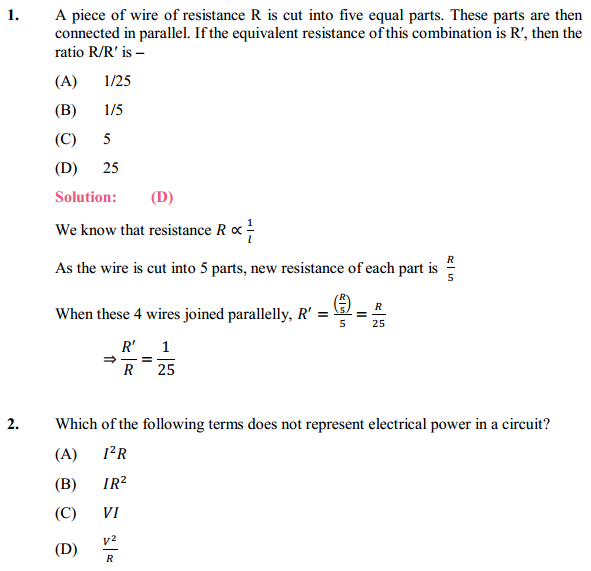 NCERT Solutions for Class 10 Science Chapter 12 Electricity 21