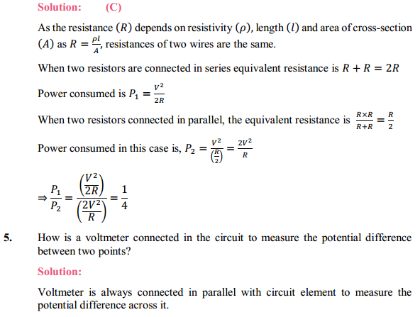 NCERT Solutions for Class 10 Science Chapter 12 Electricity 24