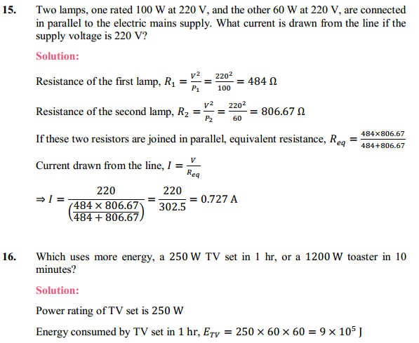 NCERT Solutions for Class 10 Science Chapter 12 Electricity 34