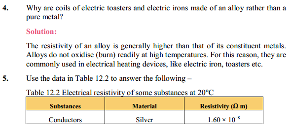 NCERT Solutions for Class 10 Science Chapter 12 Electricity 6