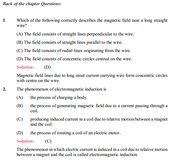 NCERT Solutions for Class 10 Science Chapter 13 Magnetic Effects of Electric Current 15
