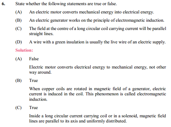 NCERT Solutions for Class 10 Science Chapter 13 Magnetic Effects of Electric Current 18