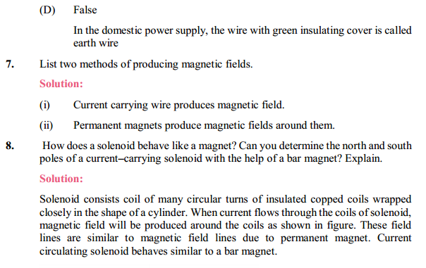 NCERT Solutions for Class 10 Science Chapter 13 Magnetic Effects of Electric Current 19