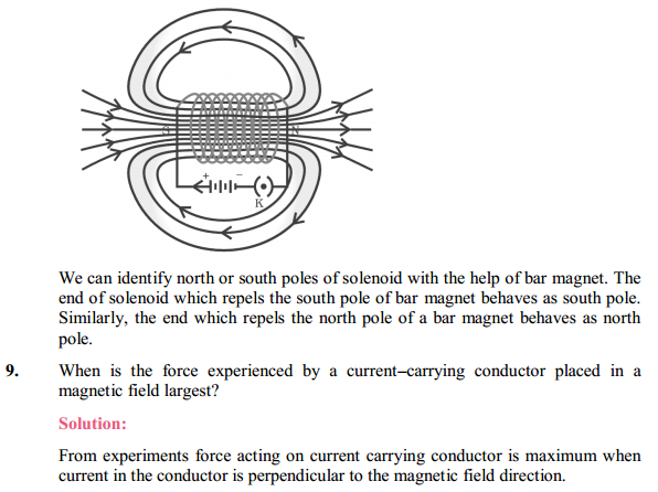 NCERT Solutions for Class 10 Science Chapter 13 Magnetic Effects of Electric Current 20