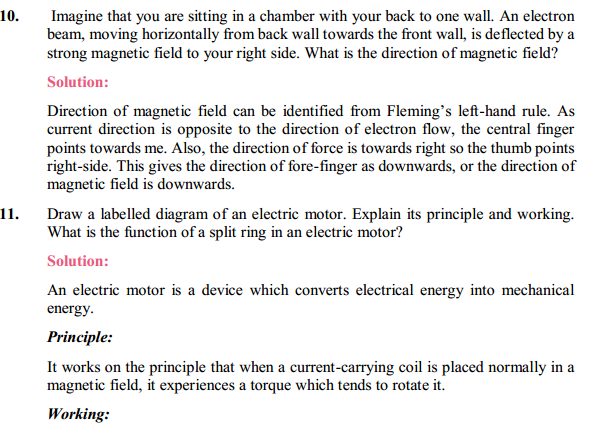 NCERT Solutions for Class 10 Science Chapter 13 Magnetic Effects of Electric Current 21