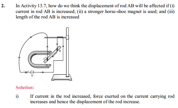NCERT Solutions for Class 10 Science Chapter 13 Magnetic Effects of Electric Current 6