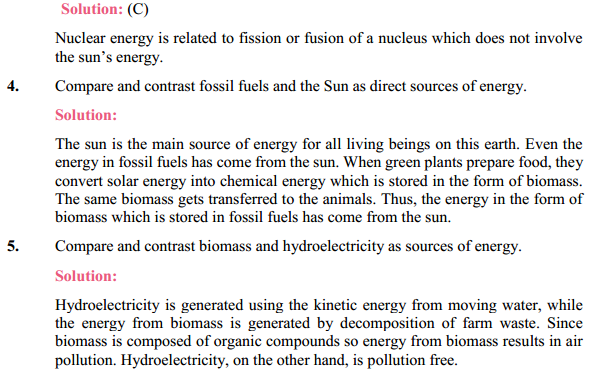 NCERT Solutions for Class 10 Science Chapter 14 Sources of Energy 10