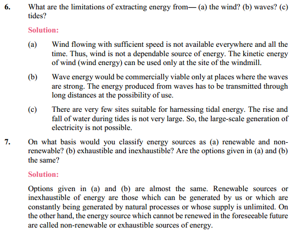 NCERT Solutions for Class 10 Science Chapter 14 Sources of Energy 11
