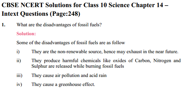 NCERT Solutions for Class 10 Science Chapter 14 Sources of Energy 2