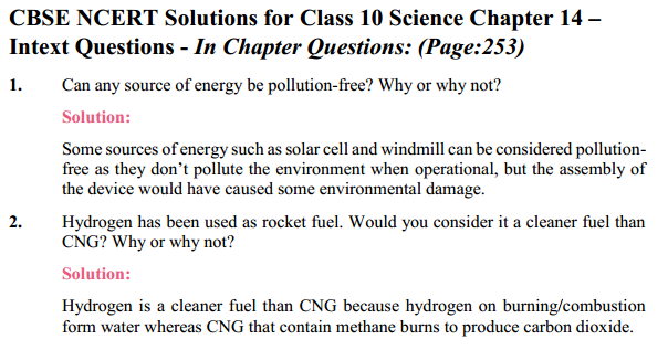 NCERT Solutions for Class 10 Science Chapter 14 Sources of Energy 6