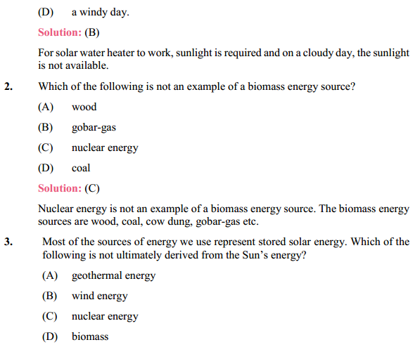 NCERT Solutions for Class 10 Science Chapter 14 Sources of Energy 9