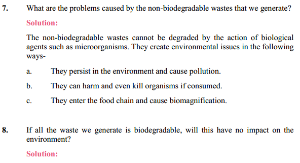 NCERT Solutions for Class 10 Science Chapter 15 Our Environment 6