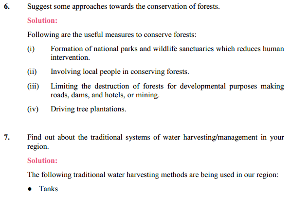 NCERT Solutions for Class 10 Science Chapter 16 Management of Natural Resources 12