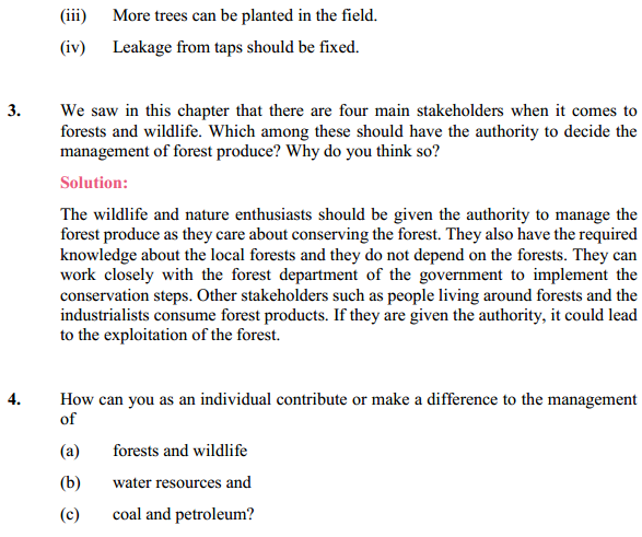 NCERT Solutions for Class 10 Science Chapter 16 Management of Natural Resources 3