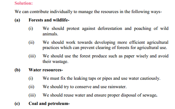 NCERT Solutions for Class 10 Science Chapter 16 Management of Natural Resources 4