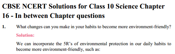 NCERT Solutions for Class 10 Science Chapter 16 Management of Natural Resources 8