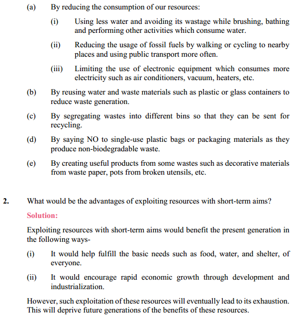 NCERT Solutions for Class 10 Science Chapter 16 Management of Natural Resources 9