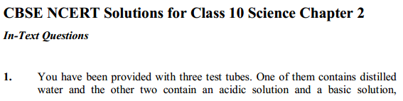 NCERT Solutions for Class 10 Science Chapter 2 Acids, Bases and Salts 12