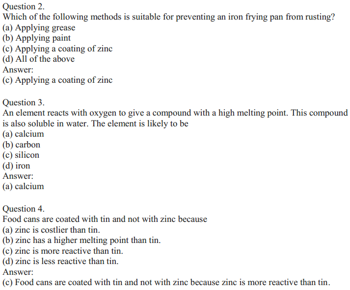 NCERT Solutions for Class 10 Science Chapter 3 Metals and Non-Metals 11