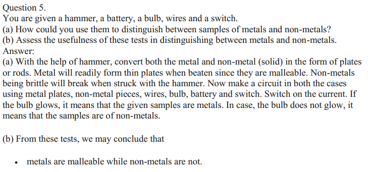 NCERT Solutions for Class 10 Science Chapter 3 Metals and Non-Metals 12