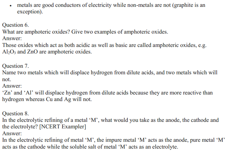 NCERT Solutions for Class 10 Science Chapter 3 Metals and Non-Metals 13