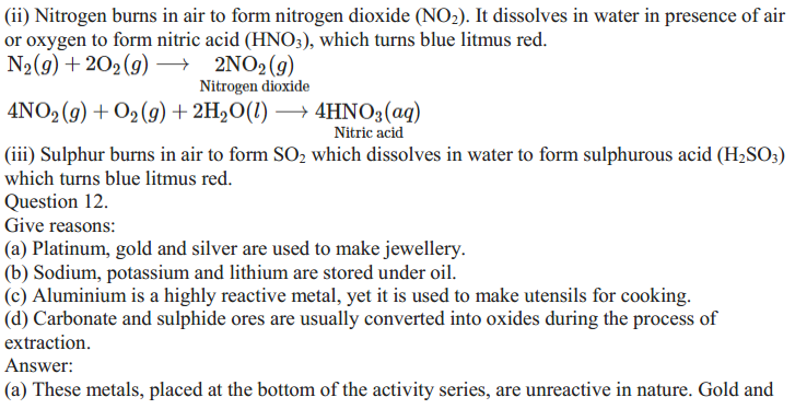 NCERT Solutions for Class 10 Science Chapter 3 Metals and Non-Metals 16