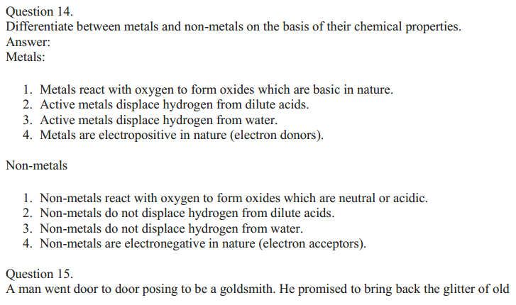 NCERT Solutions for Class 10 Science Chapter 3 Metals and Non-Metals 18