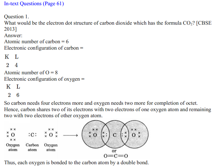 NCERT Solutions for Class 10 Science Chapter 4 Carbon and Its Compounds 1