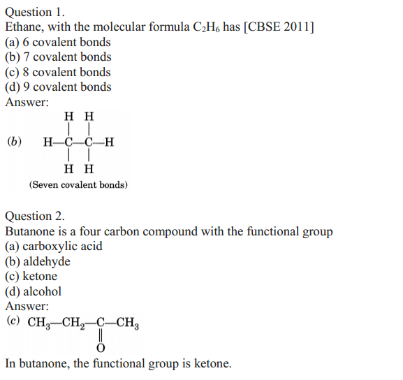 NCERT Solutions for Class 10 Science Chapter 4 Carbon and Its Compounds 13
