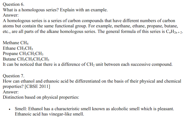 NCERT Solutions for Class 10 Science Chapter 4 Carbon and Its Compounds 18