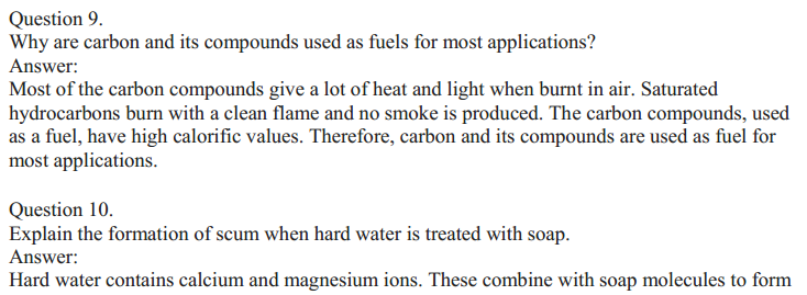 NCERT Solutions for Class 10 Science Chapter 4 Carbon and Its Compounds 20