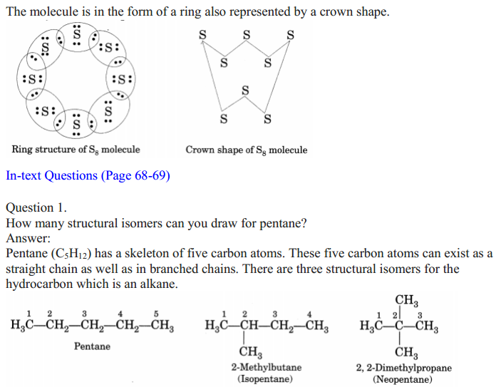 NCERT Solutions for Class 10 Science Chapter 4 Carbon and Its Compounds 3