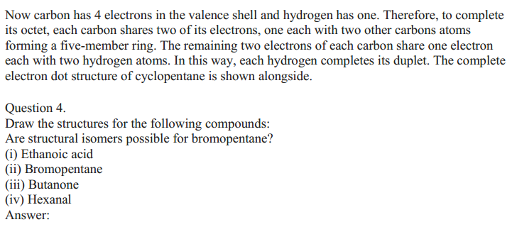NCERT Solutions for Class 10 Science Chapter 4 Carbon and Its Compounds 6